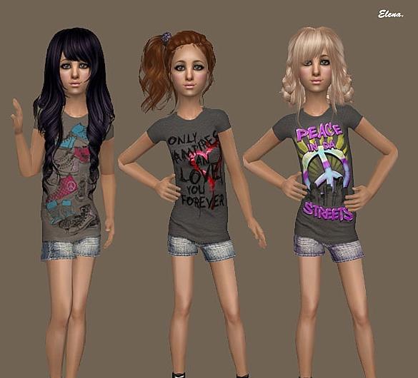 sims 2 моды на одежду для детей